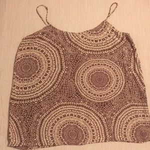 Boho printed tank top by Olivaceous.